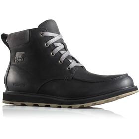 Sorel Madson Moc Toe Waterproof Shoes Men Black/Dark Grey